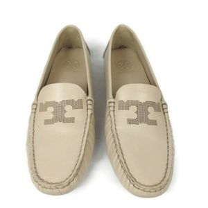Tory Burch Nude Driving Loafer Flat Moccasins 7.5